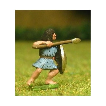Saite Egyptian: Spearman with round shield