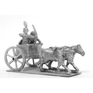 Kushite Egyptian: 2 Horse chariot with archer and driver