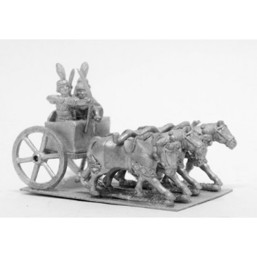 Kushite Egyptian: 4 Horse chariot, archer, spearman and driver