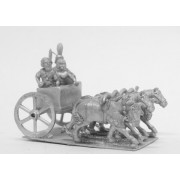 Kushite Egyptian: 4 Horse chariot with General, spearman and driver