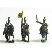 Austrian Cavalry 1805-14: Command: Dragon: Officer, Standard Bearer & Trumpeter