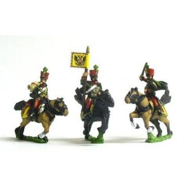 Austrian Cavalry 1805-14: Command: Hussar Officer, Standard Bearer& Trumpeter