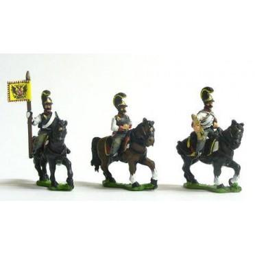 Austrian Cavalry 1805-14: Command: Cuirassier Officer, Standard Bearer & Trumpeter