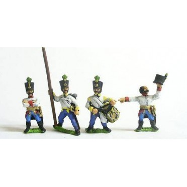 Command pack: Hungarian Command in Shako, halted