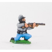 Union or Confederate: Infantry in Kepi & Shell Jacket, with no Equipment: Kneeling & Firing