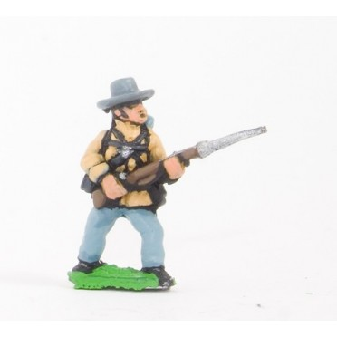 Union or Confederate: Infantry in Slouch Hat & Tunic with full pack and equipment:At the Ready (fixed bayonet)