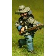 Union or Confederate: Infantry in Slouch Hat & Tunic with full pack and equipment:Charging (fixed bayonet)