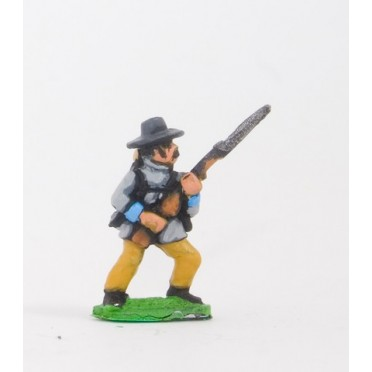 Union or Confederate: Infantry in Slouch Hat & Tunic with full pack and equipment:Advancing with Musket at 45 degrees (fixed bay