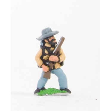 Union or Confederate: Infantry in Slouch Hat & Tunic with full pack and equipment:At the Ready