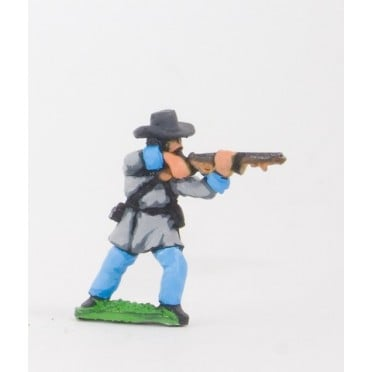 Union or Confederate: Infantry in Slouch hat & Frock Coat, firing