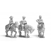 Confederate: Command: Mounted General & two Staff Officers