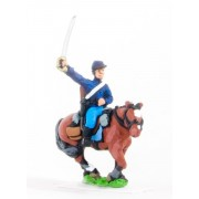 Union or Confederate: Trooper in Kepi with drawn Sword on charging horses