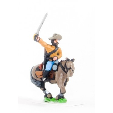 Union or Confederate: Trooper in Slouch Hat with drawn Sword on charging horses
