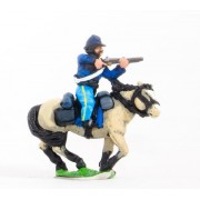 Union or Confederate: Trooper in Kepi, firing carbine forward on charging horses
