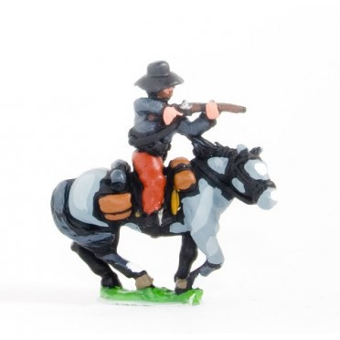Union or Confederate: Trooper in Slouch Hat, firing carbine forward on charging horses