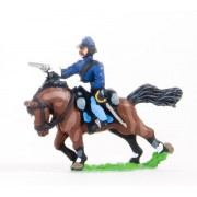Union or Confederate: Trooper in Kepi firing pistol on charging horses