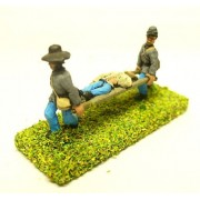 Two stretcher bearers with wounded patient