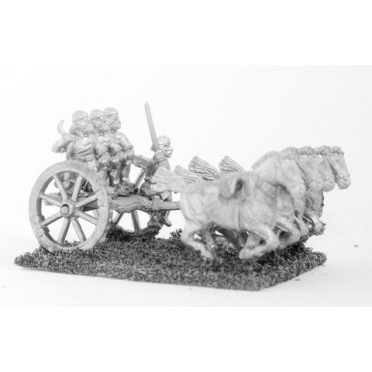 Elamites: 4 horse chariot with driver & three archers
