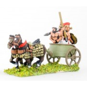 Sea Peoples: 2 Horse Chariot with driver & two javelinmen