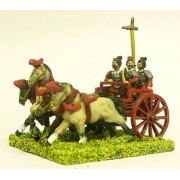 Chin Chinese: Four horse chariot with driver, archer and halberdier (unarmoured horse)