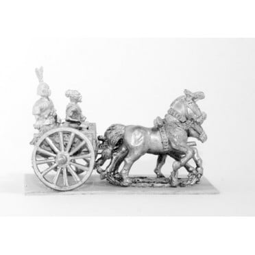 Shang or Chou Chinese: Two horse Light Chariot with General and driver