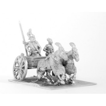 Shang or Chou Chinese: Two horse Heavy Chariot with driver, archer and spearman