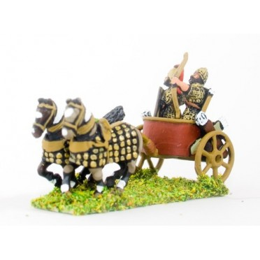 Hurri-Mitanian: Two horse chariot with archer and driver