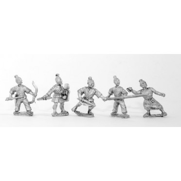 Generic Chinese Infantry: Hordes or peasants, assorted & improvised weapons