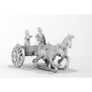 Chinese Barbarians: Two horse Light Chariot with driver and archer