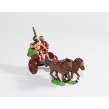 Caledonian & Pictish: Two horse Chariot with javelinman & driver