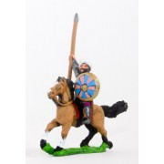 Arab cavalry in chainmail & turban with spear & round shield