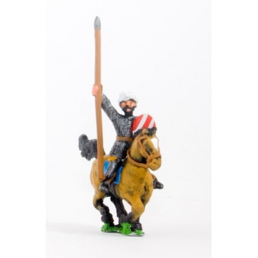 Arab cavalry in chainmail & turban with spear & kite shield