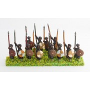 Arab spearmen with round shields, assorted poses