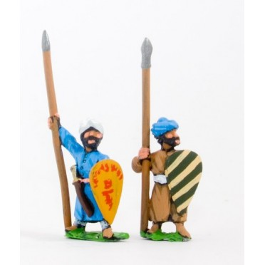 Arab spearmen with kite shields, assorted poses
