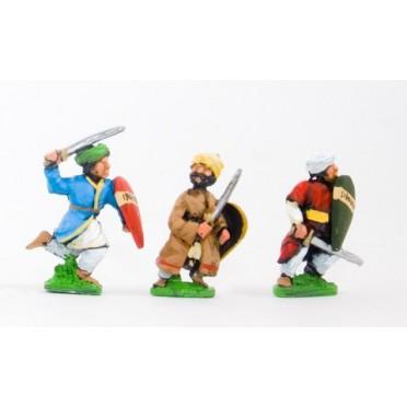 Arab swordsmen with kite shield, assorted pose