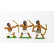 Unarmoured black archers, assorted poses