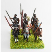 Arab light cavalry, round shield, assorted poses