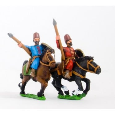 Turkoman horse archers with javelin, assorted poses