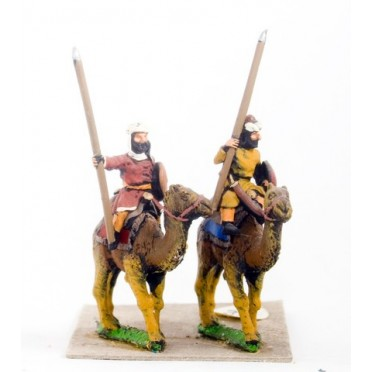 Assorted Arab Camel Riders with Spear and Shield