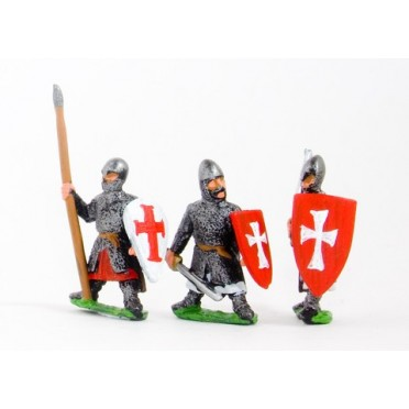 Frankish Knights on foot, Large Shields, assorted