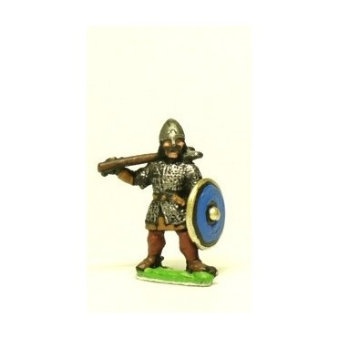 Dark Age: Dismounted Heavy Cavalry, assorted weapons & round shield