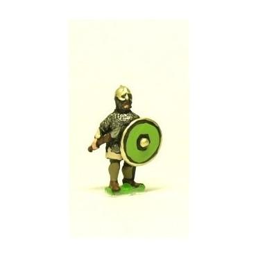 Dark Age: Carolingian style Heavy Lancer with round shield