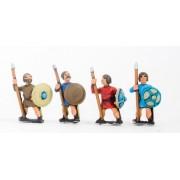 Dark Age: Medium Spearmen with bare heads & round shield