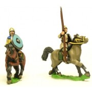 Dark Age: Medium / Light Cavalry in helmets with lance and separate shield