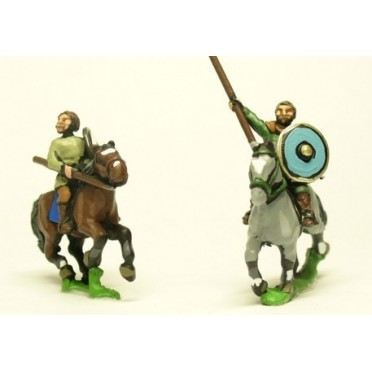 Dark Age: Medium / Light Cavalry with bare heads, lance & separate shield