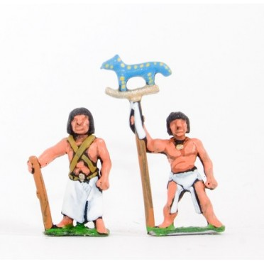 Old & Middle Kingdom Egyptian: Command: 3 Foot Officers, 3 Standard Bearers