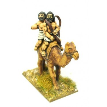 Midianite Arab: Camel with two archers (3 per pack)