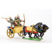 Syrian chariot with driver, archer and Javelinman