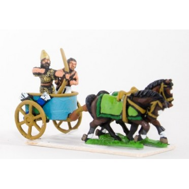 Canaanite chariot with driver and archer