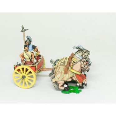 Shang or Chou Chinese: Four horse Heavy Chariot with driver, archer and halberdier